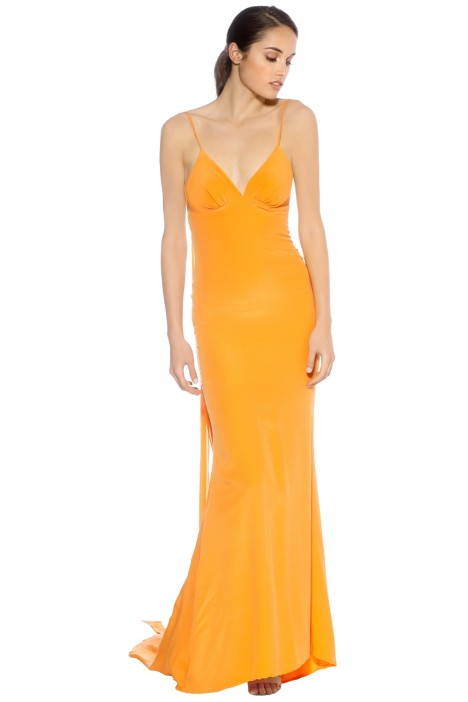 LUOM.O - Manhattan Dress - Tangerine - Front