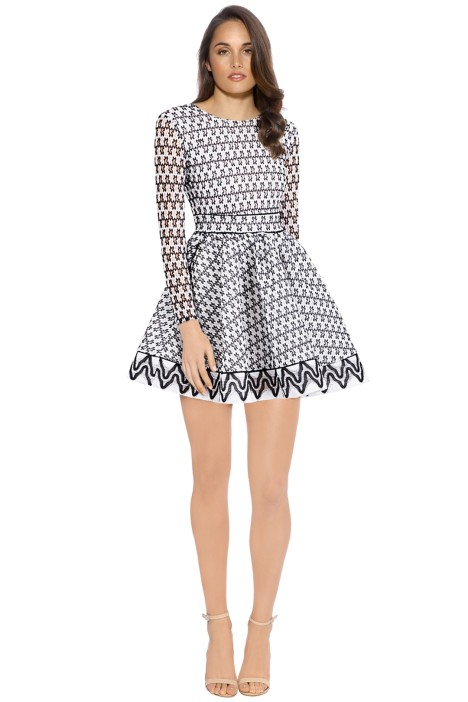 Maje - Royan Dress - Black White - Front