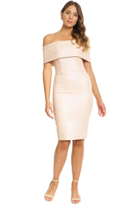 Manning Cartell - Blushing Queens Off The Shoulder Dress - Blush - Front