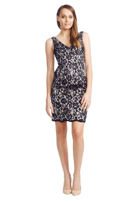 Matthew Eager - Lace Sheath Dress - Black - Front