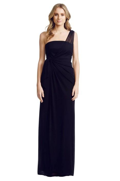 Matthew Eager - One Shoulder Gown - Black - Front