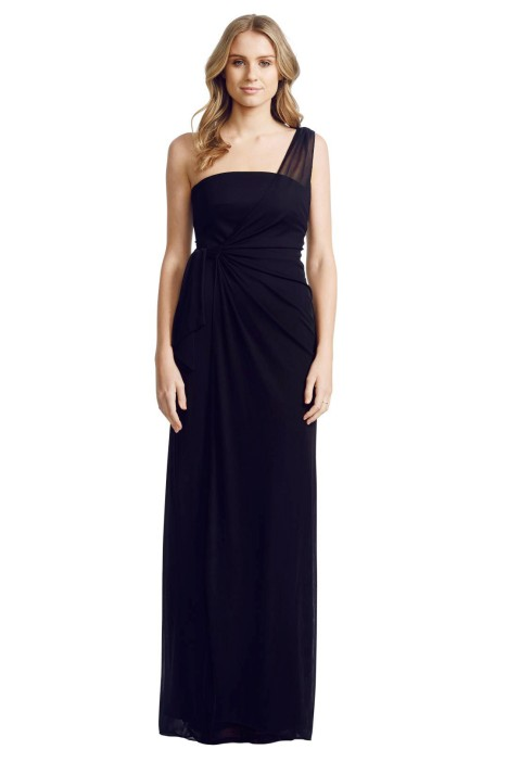 Matthew Eager - One Shoulder Gown - Front - Black