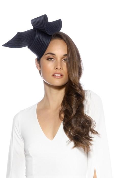 Max Alexander - Heather Fascinator - Navy - Front Model