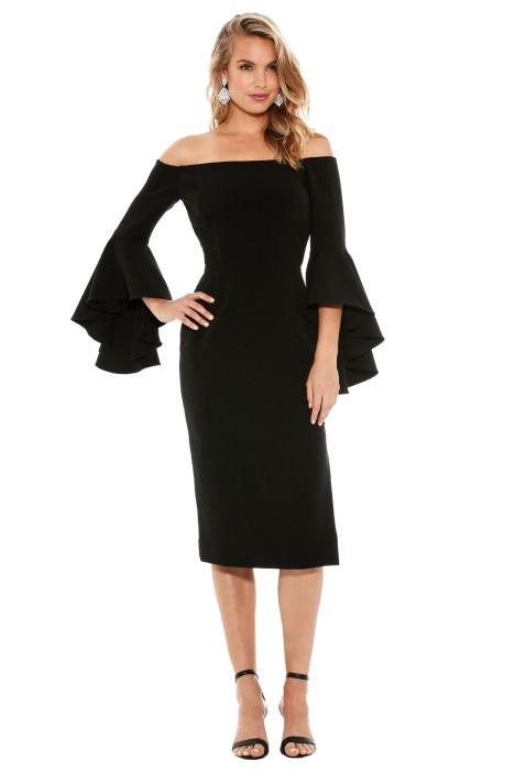 Milly - Cady Selena Slit Dress - Front - Black