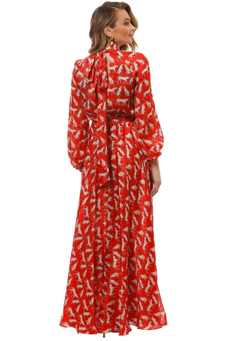 Emmie Dress in Red by Milly for Hire | GlamCorner