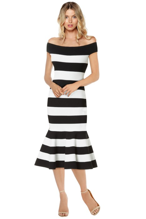 Milly - Mermaid Dress - Black White - Front