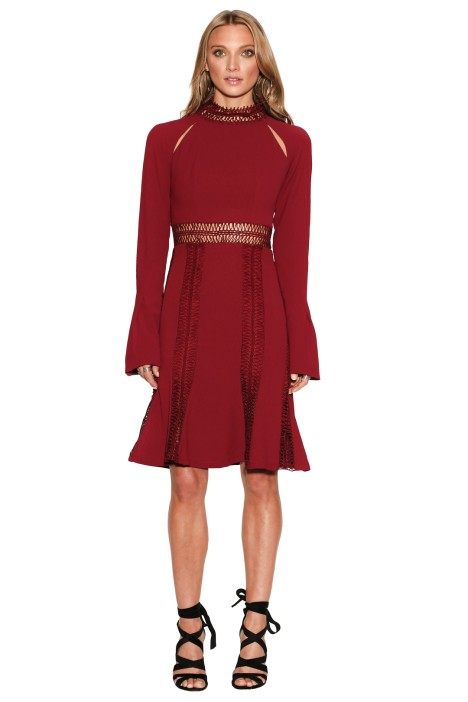 Ministry of Style - Azzedine Dress - Wine - Front