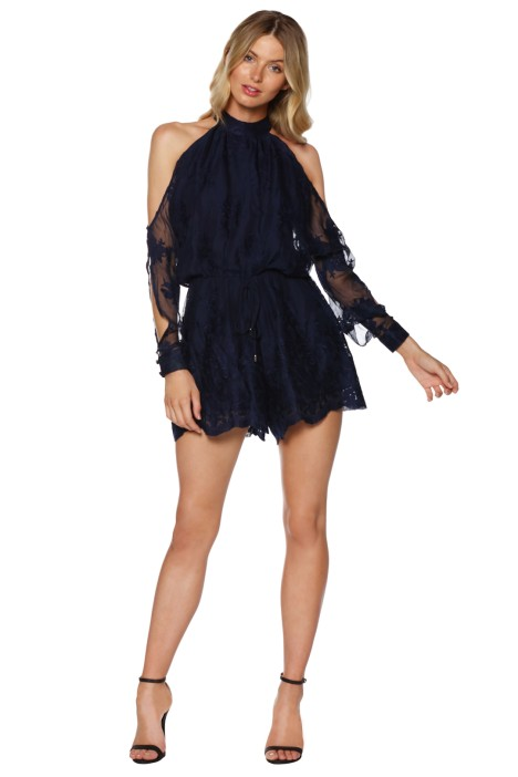 Ministry of Style - Campbell Playsuit in Navy - Front