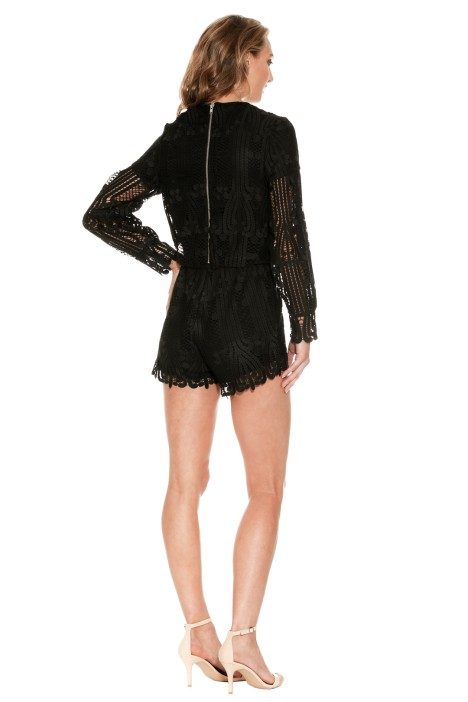 94e74ac85af Lattice Lace Playsuit in Black by Ministry of Style for Rent