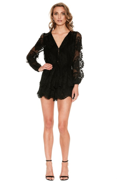 67b7fed6da Roamer Playsuit in Black by Ministry of Style for Rent