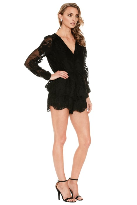 f1d59764135 Roamer Playsuit in Black by Ministry of Style for Rent