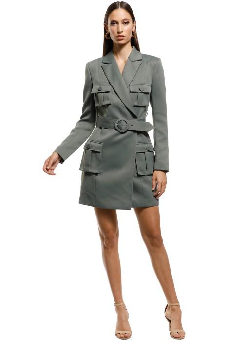 Misha-Collection-Jona-Dress-Olive-Front