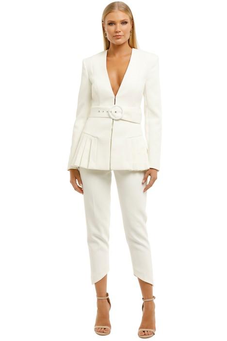 Misha-Tamina-Linnea-Blazer-and-Pant-Set-Ivory-Front