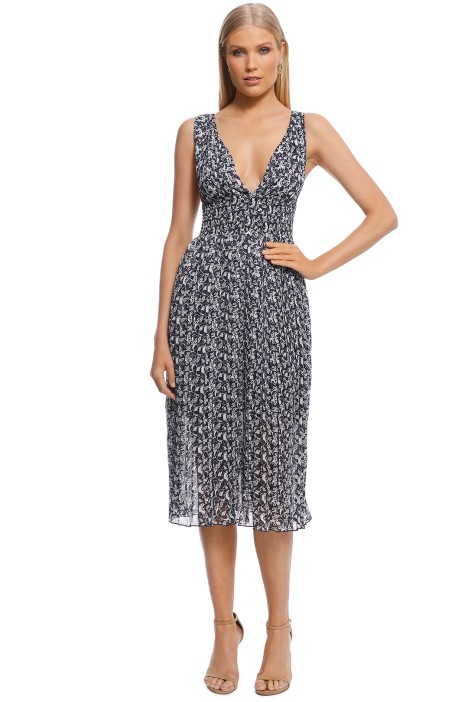 Misha Collection - Alexandria Dress - Navy Print - Front