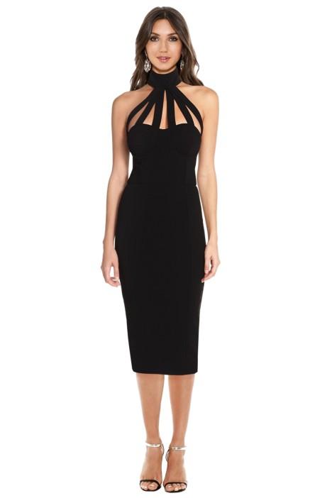 Misha Collection - Aliza Dress - Black - Front