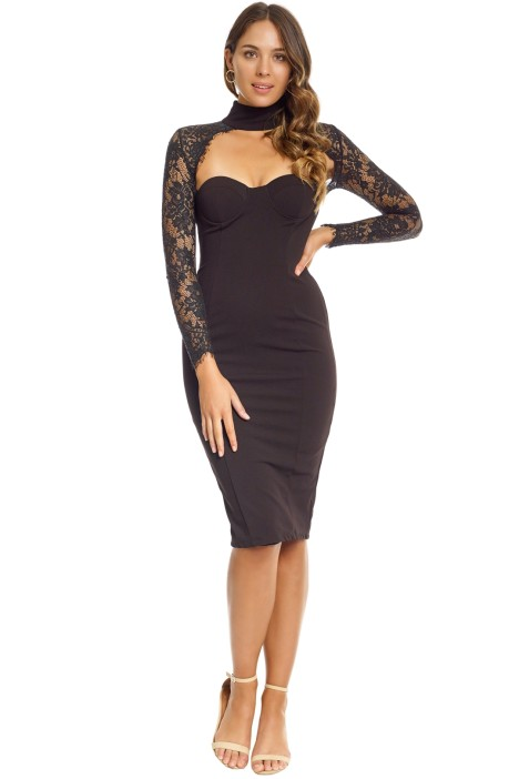 Misha Collection - Carolena Dress - Front - Black