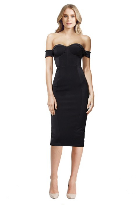 Misha Collection - Chloe Dress - Front - Black