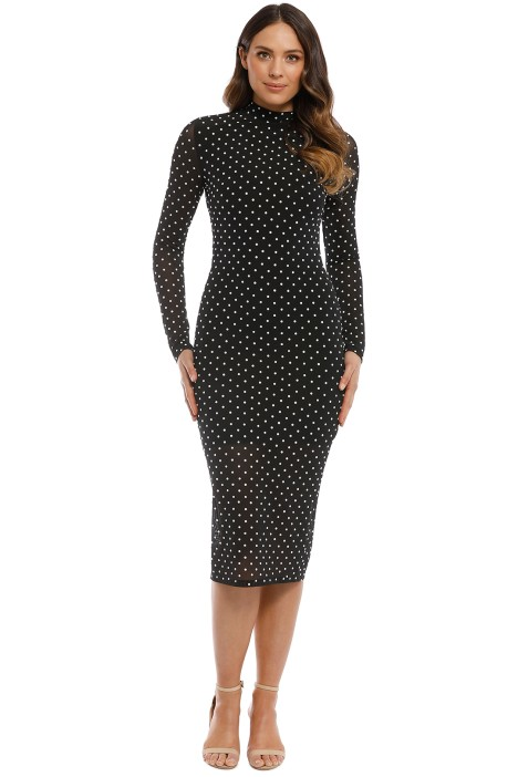 Misha Collection - Frances Beaded Dress - Black - Front
