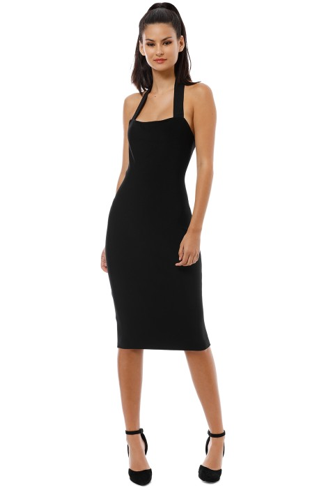 Misha Collection - Julia Midi Dress - Black - Front