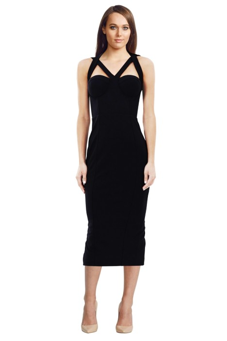 Misha Collection - Lorenza Dress - Black - Front