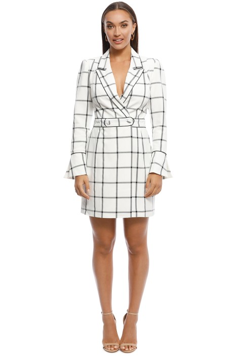 Misha Collection - Rachelle Blazer Dress - Check - Front