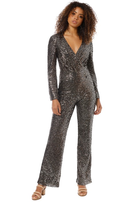 Misha Collection - Sharnie Pantsuit - Black Gold - Front