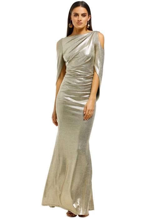 Montique-Lana-Metallic-Gown-Gold-Front