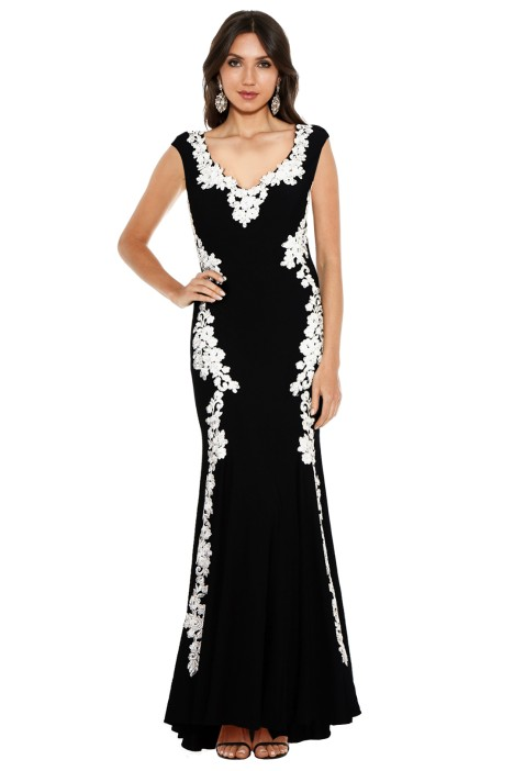 Montique - Ava Embroidered Gown - Front