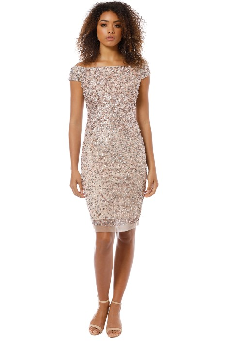 Montique - Chiara Hand Beaded Dress - Blush - Front