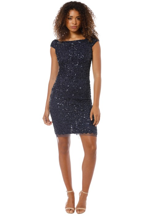 Montique - Chiara Hand Beaded Dress - Navy - Front