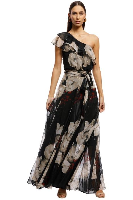 Montique - Inessa Gown - Black Floral - Front
