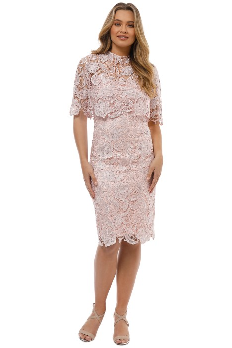 Montique - Peggy Two Piece Lace Dress - Pink - Front
