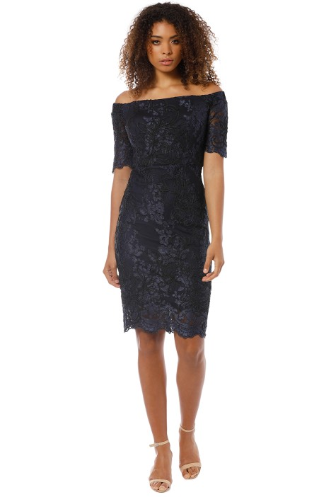 Montique - Sabelle Tonal Lace Dress - Navy - Front