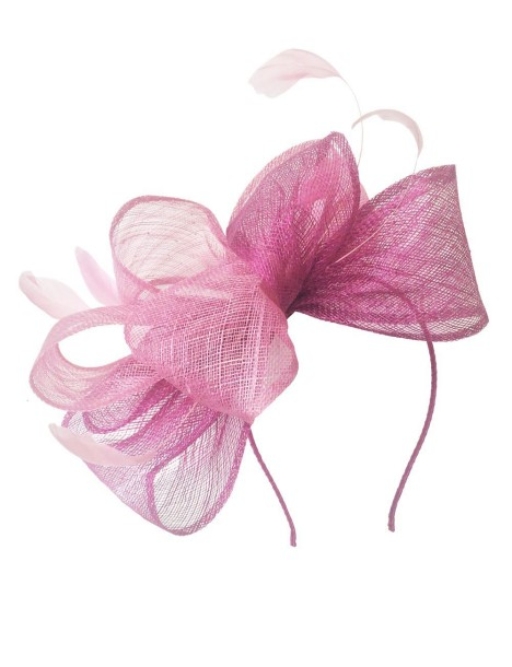 Morgan and Taylor - Georgina Fascinator - Front - Purple