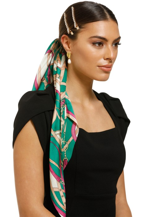 Morgan-and-Taylor-Akira-Scrunchie-With-Long-Tails-Green-Product
