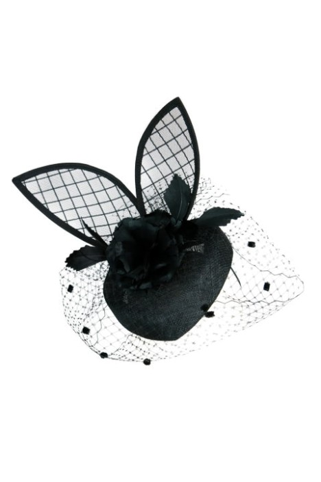 Morgan and Taylor - Bunny Black Fascinator - Side