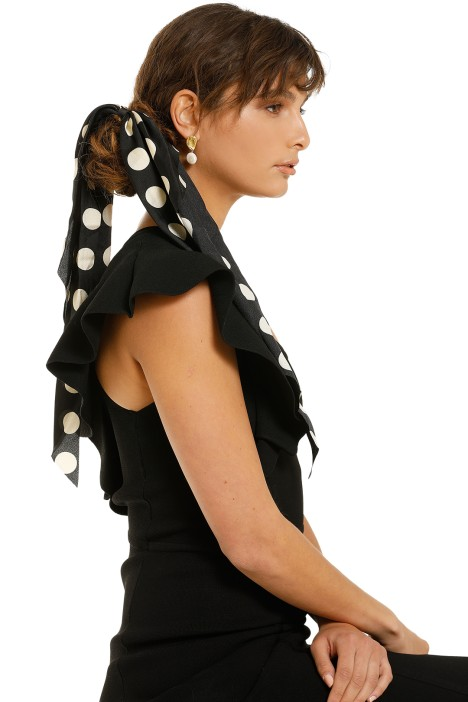 Morgan-and-Taylor-Gretchen-Scrunchie-With-Long-Tails-Black-Spot-Product-One
