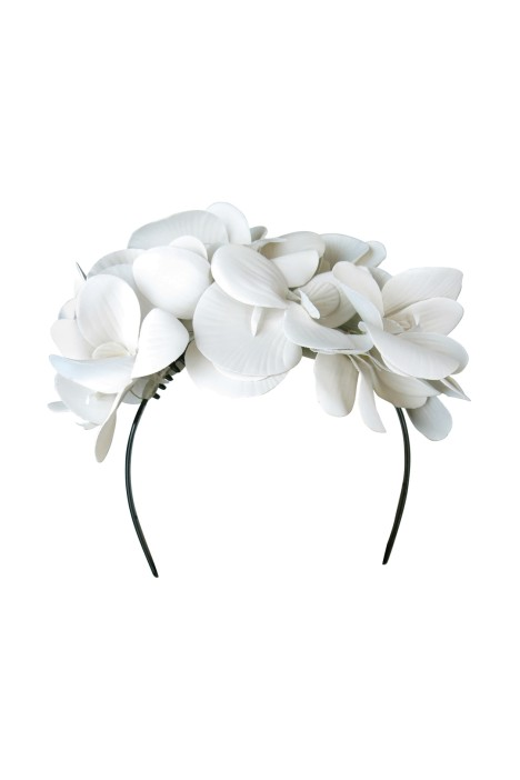 Morgan and Taylor - Celine Fascinator - White - Front