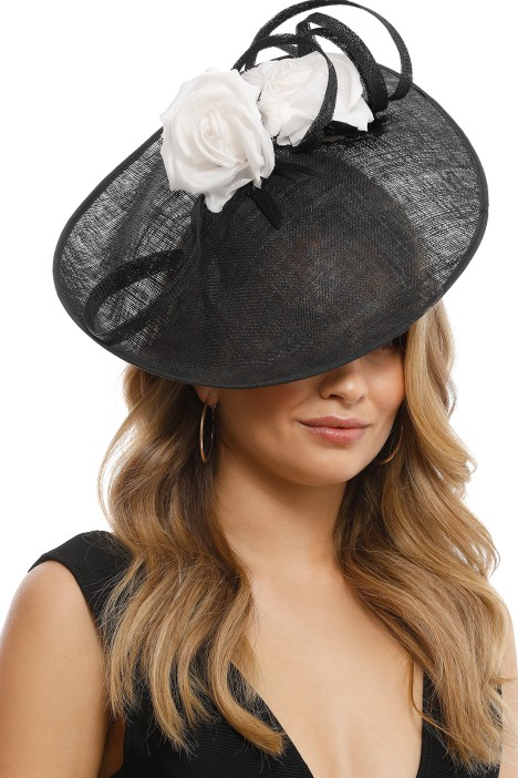 Morgan and Taylor - Cheryl Fascinator - Black and White - Front