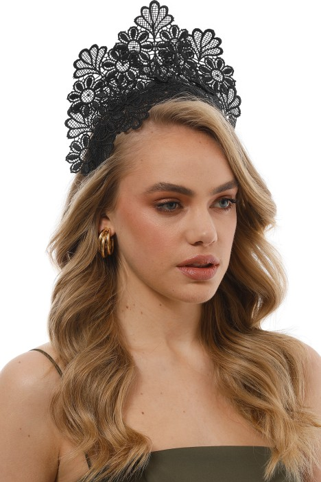 Kaisha Black Fascinator by Morgan   Taylor for Hire a40d931f42b