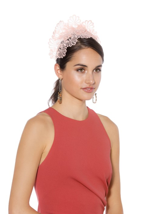 Morgan & Taylor - Kaisha Pink Fascinator - Side Model