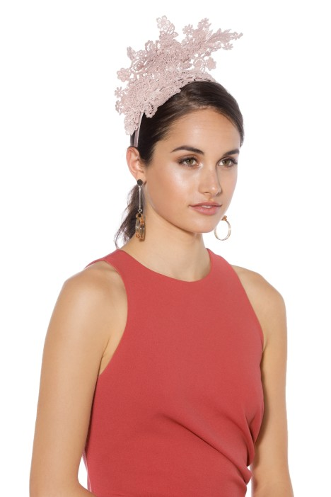 Morgan & Taylor - Leandrea Fascinator - Dusty Pink - Side Model
