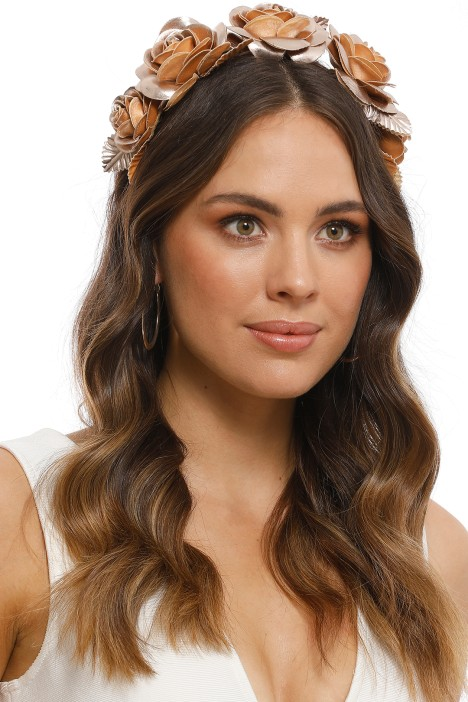Rose Fascinator in Rose Gold by Morgan   Taylor for Rent 32332359c1b