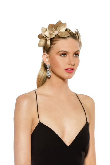 Morgan & Taylor - Sheridan Fascinator - Gold - Front 2