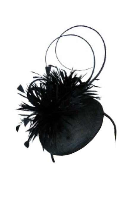 Morgan & Taylor - Black Beret With Feathers - Black - Front