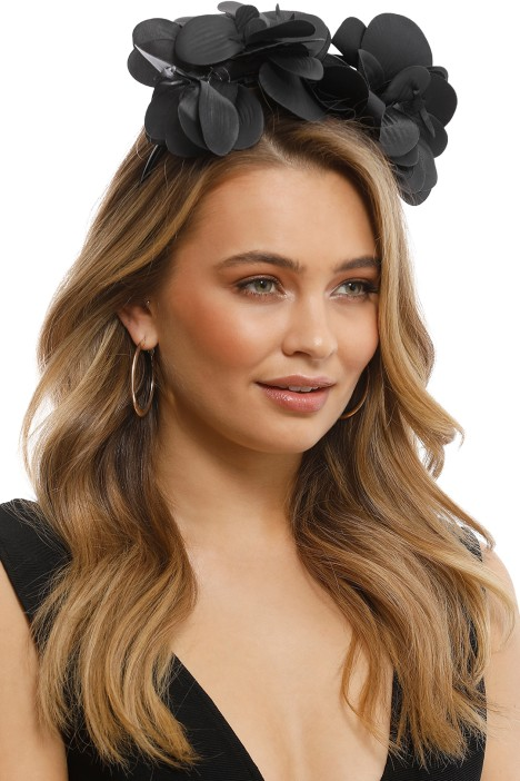 Celine Fascinator in Black by Morgan   Taylor for Rent a000a74d775