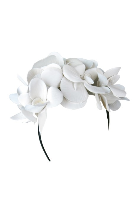 Celine Fascinator in White by Morgan   Taylor for Hire 6d528a851e8