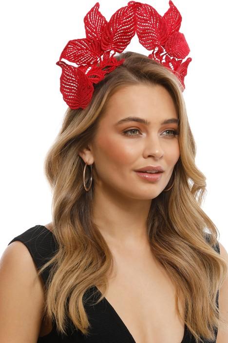 Morgan & Taylor - Florence Fascinator - Red - Front