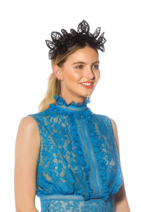 Morgan_Taylor - Jasmine Fascinator - Black - Side