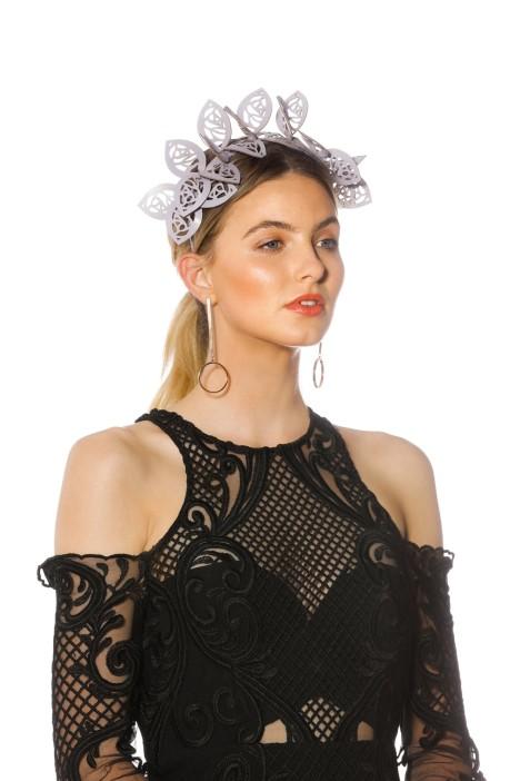Morgan & Taylor - Jasmine Fascinator - Lilac - Side Model